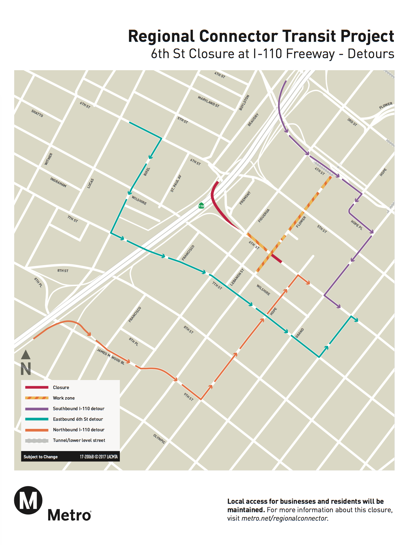 5-Month Full Closure of 6th Street Between Flower and Hope Starts