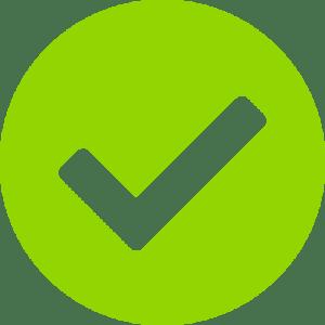 check mark green circle