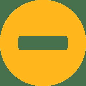 minus orange circle